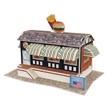 Hình ảnh của Bộ nhà truyền thống Mỹ - Fast Food Restaurant-W3124h