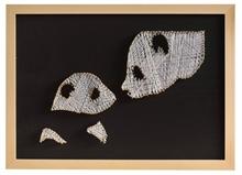 Hình ảnh của Tranh Mẹ con gấu trúc 30 x 42 cm