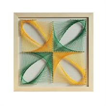 Hình ảnh của Tranh Vuông cách điệu hoa 4 cánh 30 x 30 cm