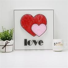 Hình ảnh của Tranh Hai trái tim 30 x 30 cm