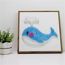 Hình ảnh của Tranh Cá voi xanh 30 x 30 cm