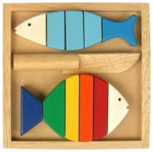 Hình ảnh của Đồ chơi gỗ Winwintoys - Bộ cắt 2 cá - 63032