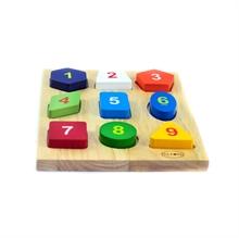 Hình ảnh của Đồ chơi gỗ Winwintoys - Bộ xếp 9 hình - 63042