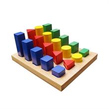 Hình ảnh của Đồ chơi gỗ Winwintoys - Bộ hình học cao thấp - 67042