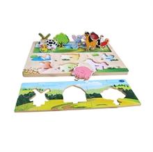 Hình ảnh của Đồ chơi gỗ Winwintoys - Xếp hình nông trại - 68332