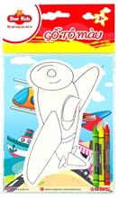 Hình ảnh của Gỗ tô màu máy bay chiến đấu với sáp màu Star Kids K-212/1