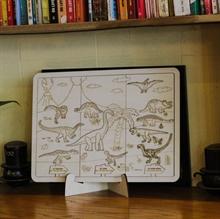 Hình ảnh của Bộ Ghép hình và tô màu gỗ - Thế Giới Khủng Long TN010