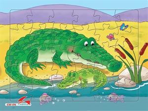 Hình ảnh của Tranh Xếp hình A4 (30 mảnh) - Cá Sấu 030-116