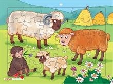 Hình ảnh của Tranh Xếp hình A4 (30 mảnh) - Đàn Cừu 030-117