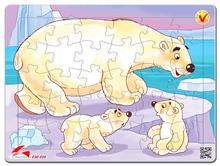 Hình ảnh của Tranh Xếp hình A4 (30 mảnh) - Gấu Bắc Cực 030-128