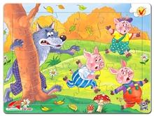 Hình ảnh của Tranh Xếp hình A4 (30 mảnh) - 3 Chú Heo Con Và Sói 03-148