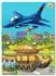 Hình ảnh của Tranh Xếp hình A4 (30 mảnh) - Máy Bay Chiến Đấu Và Xe Tăng 03-152