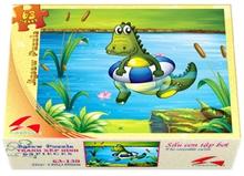 Hình ảnh của Tranh Xếp hình 63 mảnh - Sấu Con Tập Bơi 63-130