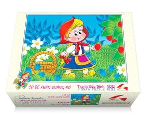 Hình ảnh của Tranh Xếp hình 108 mảnh - Cô Bé Quàng Khăn Đỏ 108-056
