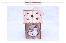 Hình ảnh của Ngôi nhà Noel bằng gỗ DIY có đèn LED - Double Snowman