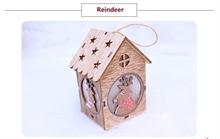 Hình ảnh của Ngôi nhà Noel bằng gỗ DIY có đèn LED - Reindeer