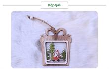 Hình ảnh của Phụ kiện trang trí Giáng Sinh bằng gỗ 2 lớp - Hộp Quà