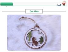 Hình ảnh của Phụ kiện trang trí Giáng Sinh bằng gỗ 2 lớp - Quả Châu