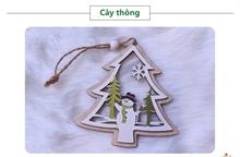 Hình ảnh của Phụ kiện trang trí Giáng Sinh bằng gỗ 2 lớp - Cây Thông